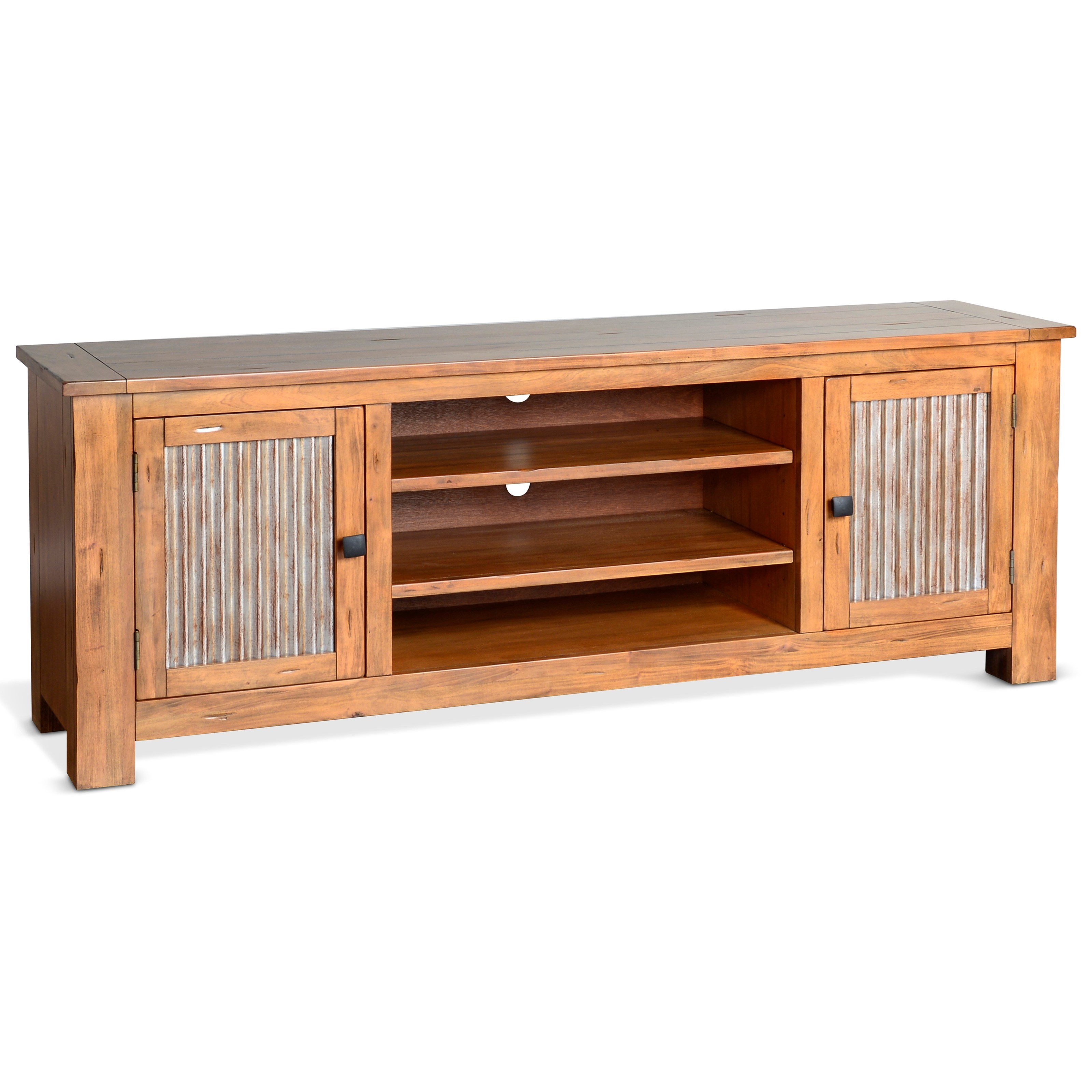 """Mossy Oak Nativ Living 74"""" TV Console by Sunny Designs at Sparks HomeStore"""