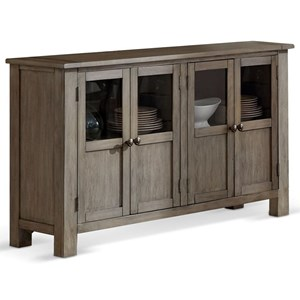 Relaxed Vintage Server with Tempered Glass Doors