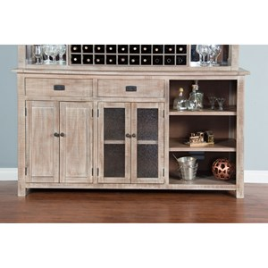 Transitional Buffet with Removable Shelves