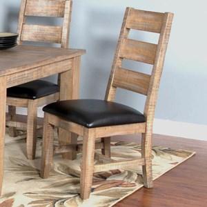 Ladderback Chair w/ Cushion Seat