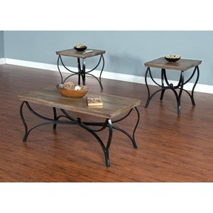 3 Pack Occasional Table Set with Coffee Table & 2 End Tables