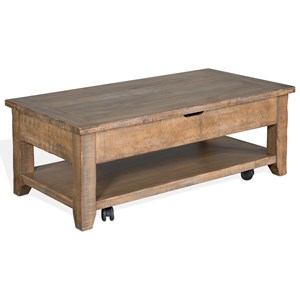 Rustic Coffee Table with Lift Top