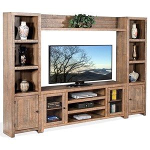 Rustic Entertainment Wall