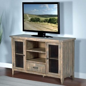 "Rustic 54"" TV Console w/ Drawer"