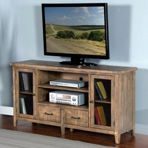"Rustic 64"" TV Console w/ Drawer"
