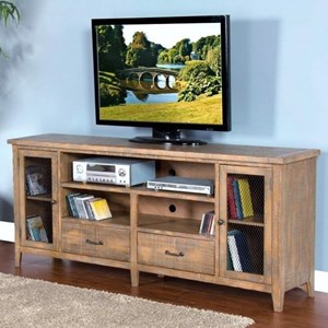 "Rustic 78"" TV Console w/ Drawer"