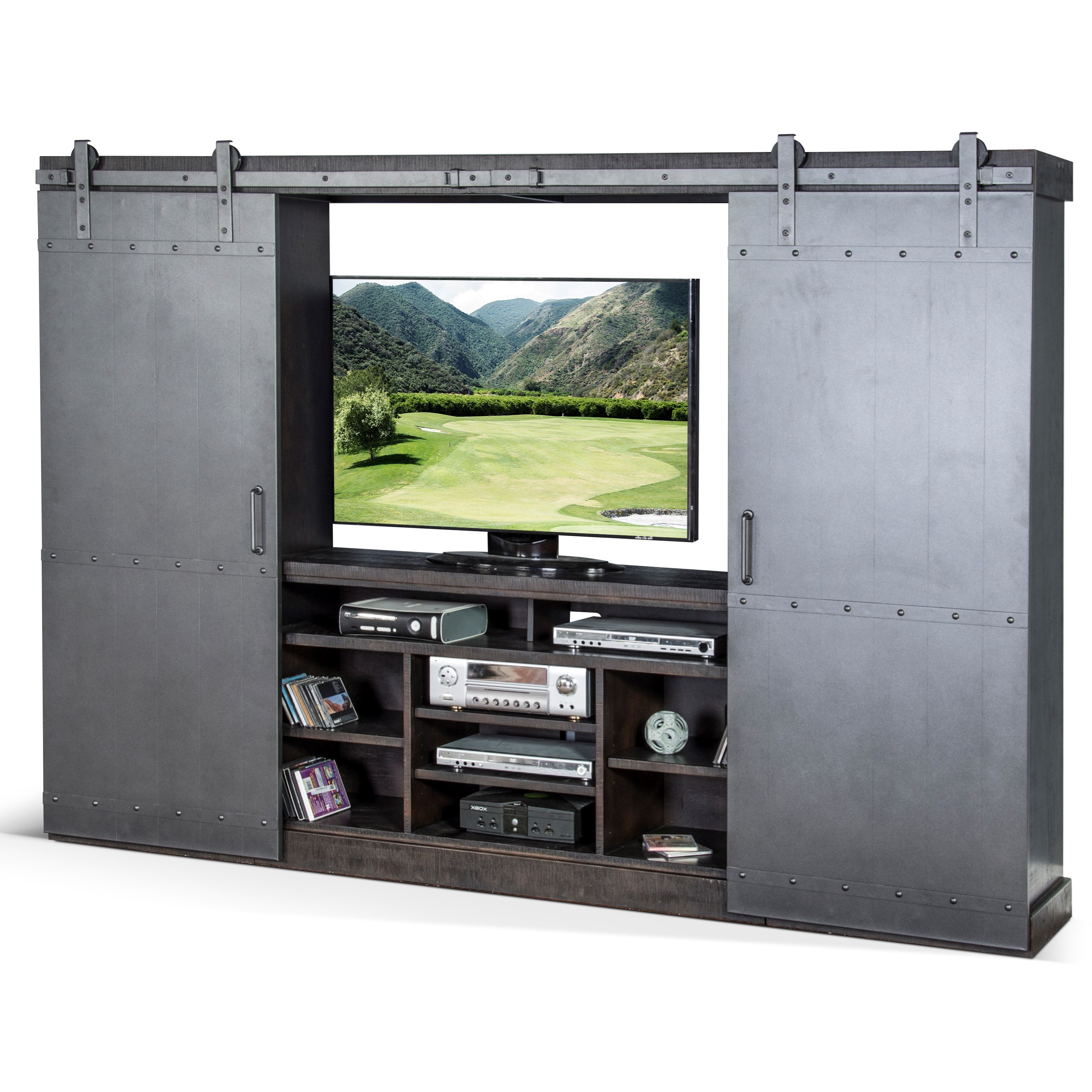 Radcliff Factory Entertainment Wall Unit by Sunny Designs at Sparks HomeStore