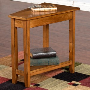 Sunny Designs Rustic Birch Sedona Chair Side Table