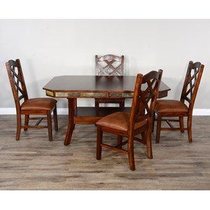 Rustic Dining Table Set for 4