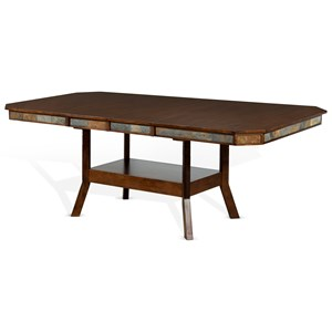 Adjustable Height Dining Table with 2 Butterfly Leaves