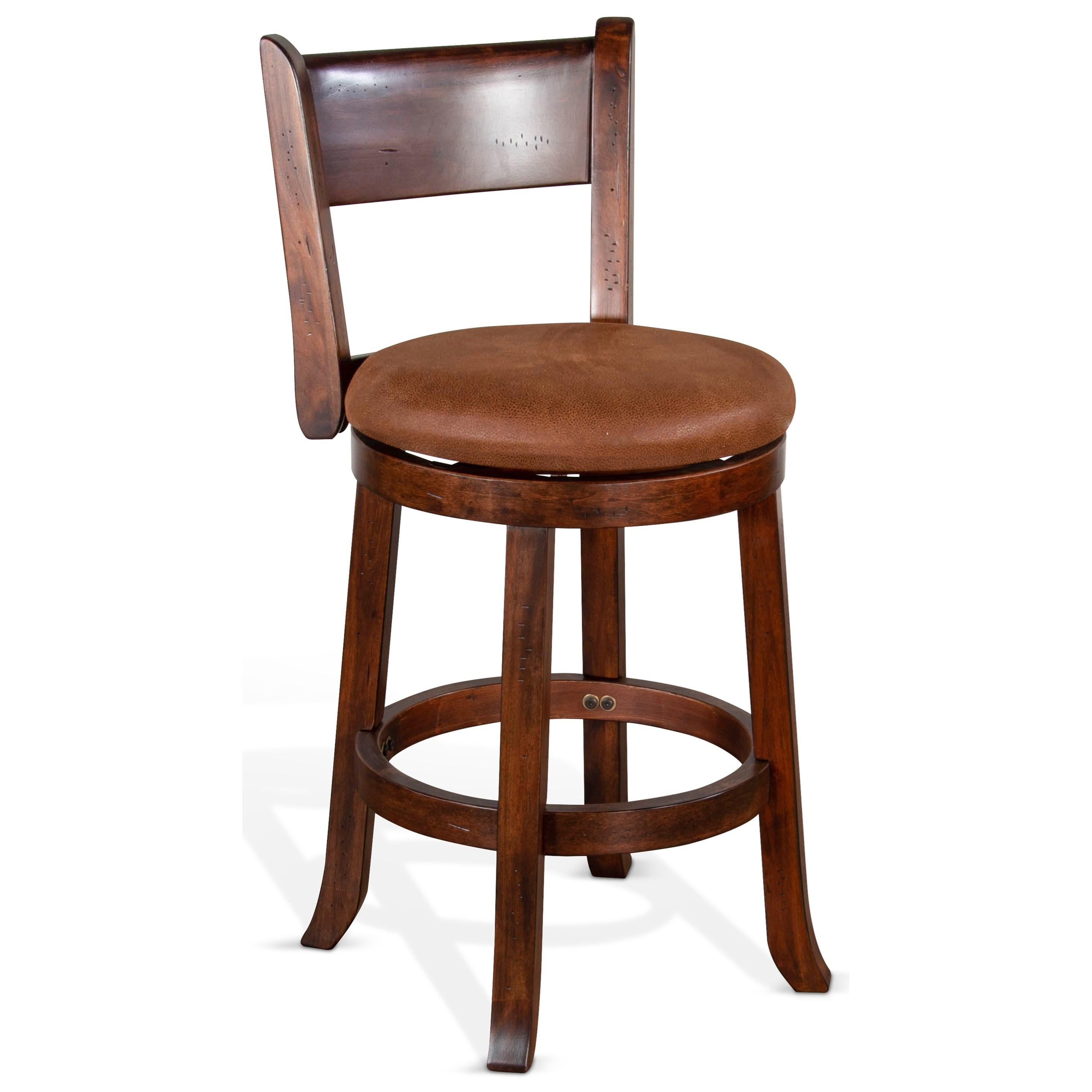 "24""H Swivel Barstool, Cushion Seat & Back"