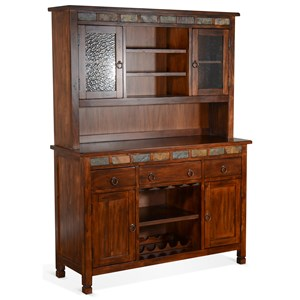 Buffet & Hutch with Slate Tile