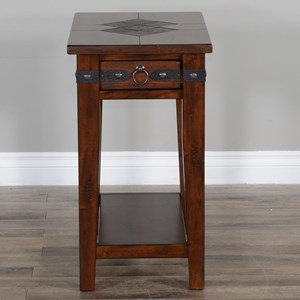 Chair Side Table with Slate Tiles