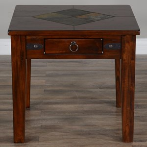 End Table with Slate Tiles