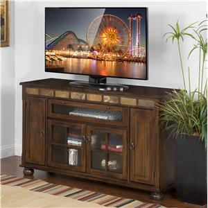 Traditional 62 Inch Counter Height TV Console