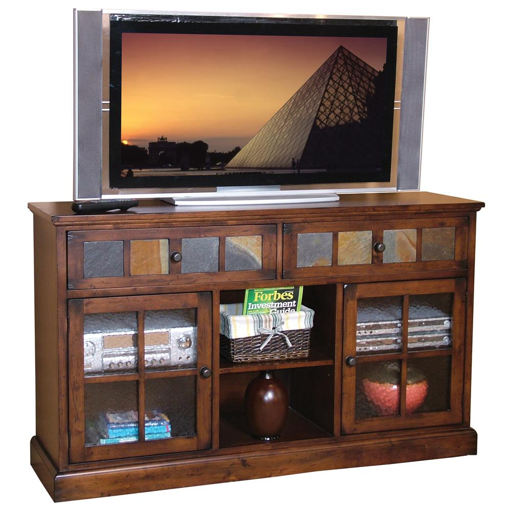 Santa Fe 2 Drawer 2 Door TV Console by Sunny Designs at Suburban Furniture
