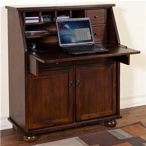Sunny Designs Santa Fe Drop Leaf Laptop Desk Armoire