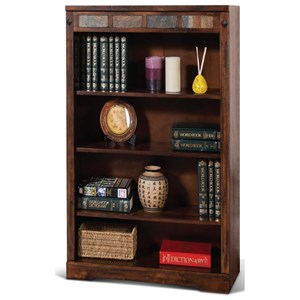 Rustic Four Drawer Bookcase with Slate Accents
