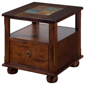 Traditional 1 Drawer End Table