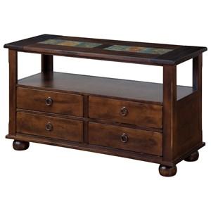 Traditional 4 Drawer Sofa Table