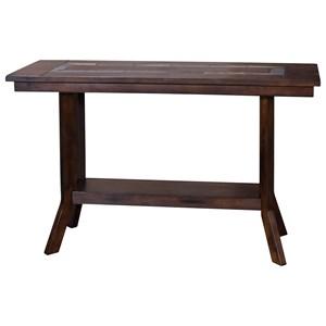Sofa Table with Natural Slate Inlay