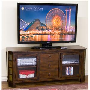 "Sunny Designs Santa Fe 60"" TV Console w/ Combo Drawer"