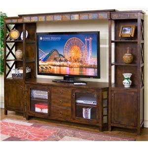 "4-Piece Entertainment Wall w/ 60"" TV Console"