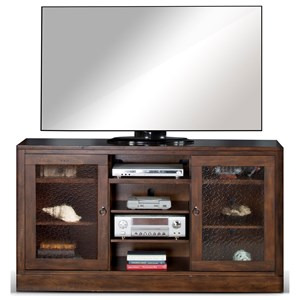 TV Console with Adjustable Shelves
