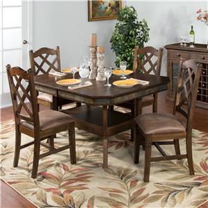 Sunny Designs Savannah 5-Piece Adjustable Height Table Set