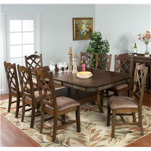 9-Piece Adjustable Height Table Set