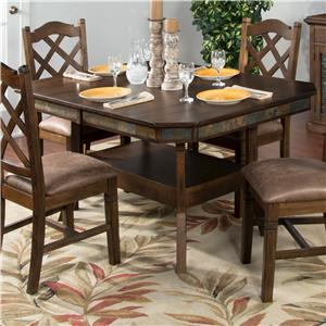 Sunny Designs Savannah Adj. Height Dining Table w/ 2 Leaves