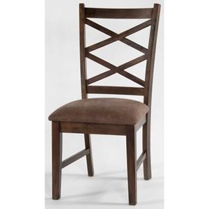 Sunny Designs Savannah Dbl Crossback Chair, Cushion Seat