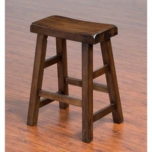 "Sunny Designs Savannah Saddle Seat Stool, 24""H"