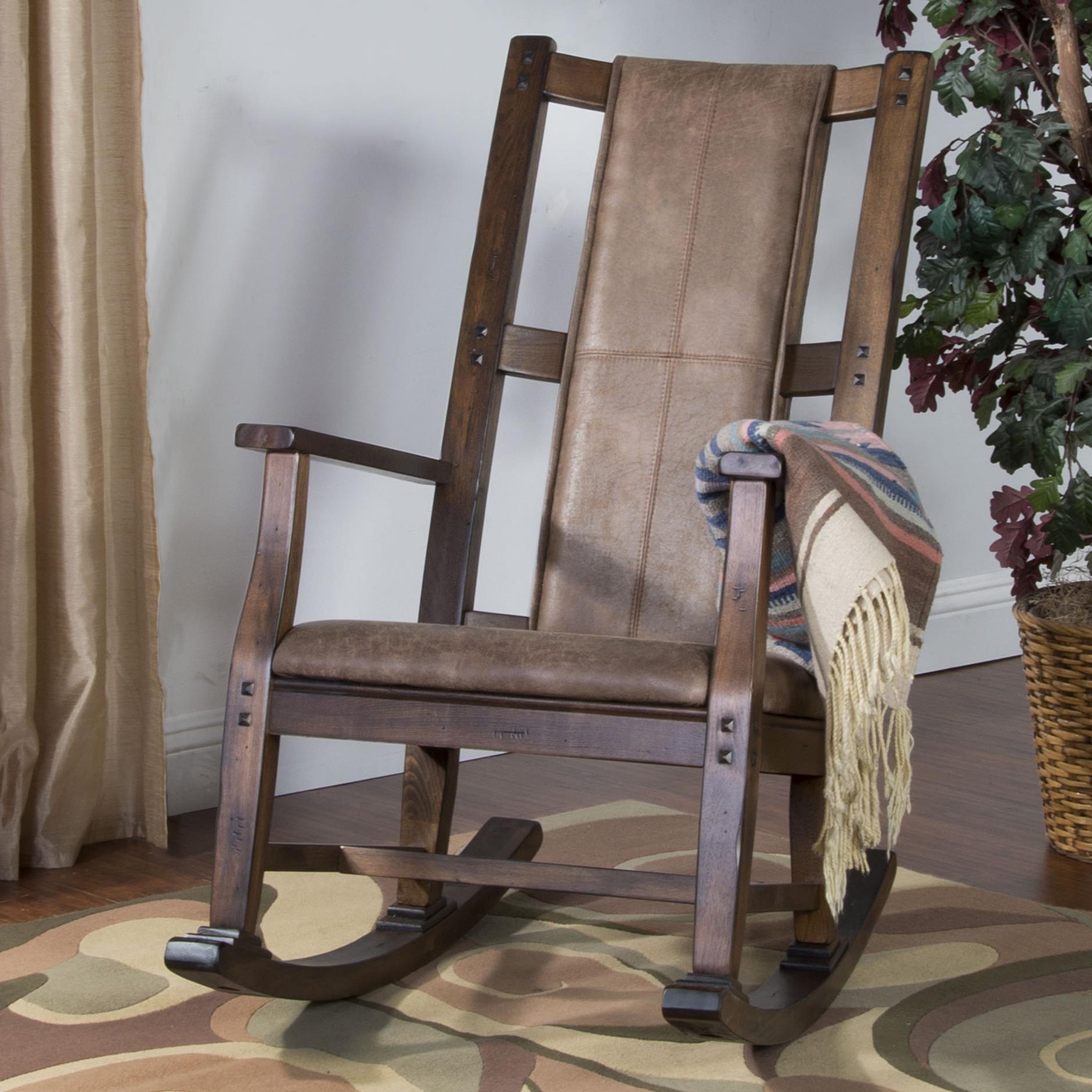 Savannah Rocker w/ Cusion Seat & Back by Sunny Designs at Walker's Furniture