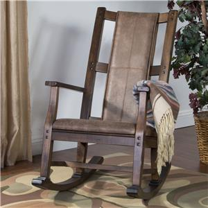 Wood Rocker w/ Cushion Seat & Back
