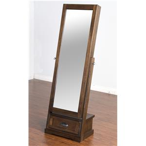 Sliding Mirror Stand with Jewelry Storage
