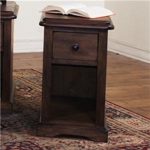 Chair Side Table with Drawer & Shelf