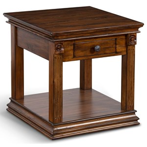 Transitional End Table with 1 Drawer