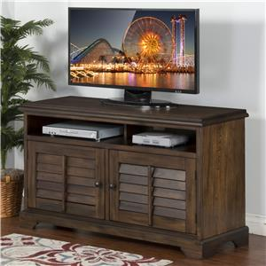 "54"" TV Console with Louver Style Doors"