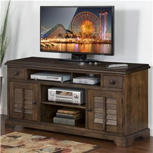"64"" TV Console with Louver Style Doors"