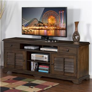 "78"" TV Console with Louver Style Doors"