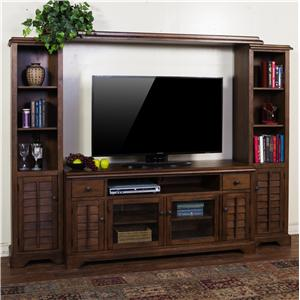 "Entertainment Wall Unit w/ 65"" W TV Console"
