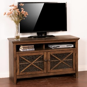 "50"" TV Console with Ice Glass Doors"