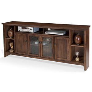 "84"" TV Console with Adjustable Shelving"