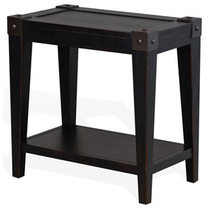 Chair Side Table with Lower Shelf
