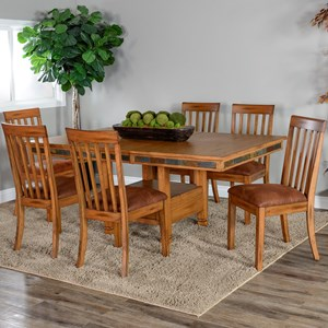 Dining Table and Chair Set for Six