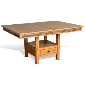Adjustable Butterfly Dining Table with Natural Slate
