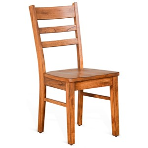 Ladderback Chair with Wood Seat
