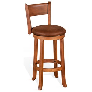 Bar Height Swivel Stool with Low Back
