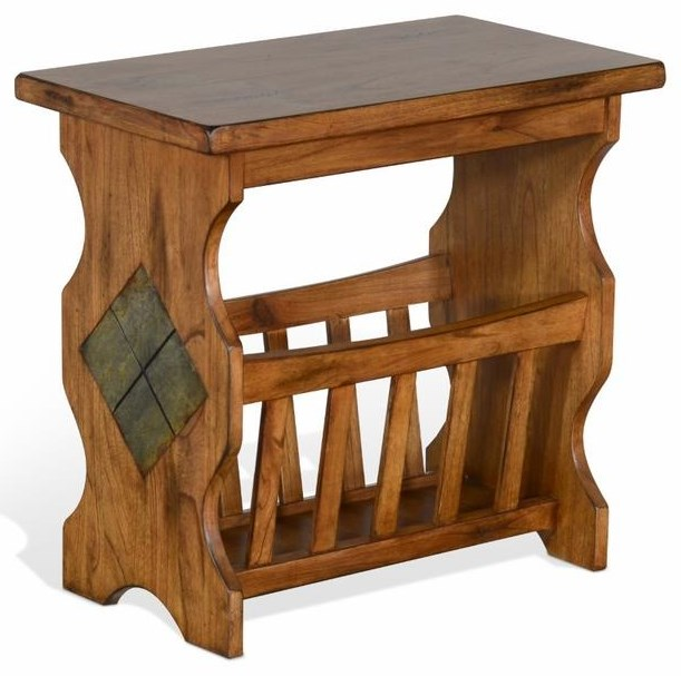 Chairside Table with Magazine Rack at Sadler's Home Furnishings
